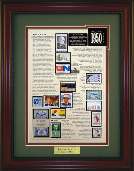 Year 1950 - Personalized Unique Framed Gift