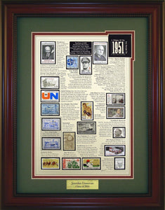 Year 1951 - Personalized Unique Framed Gift
