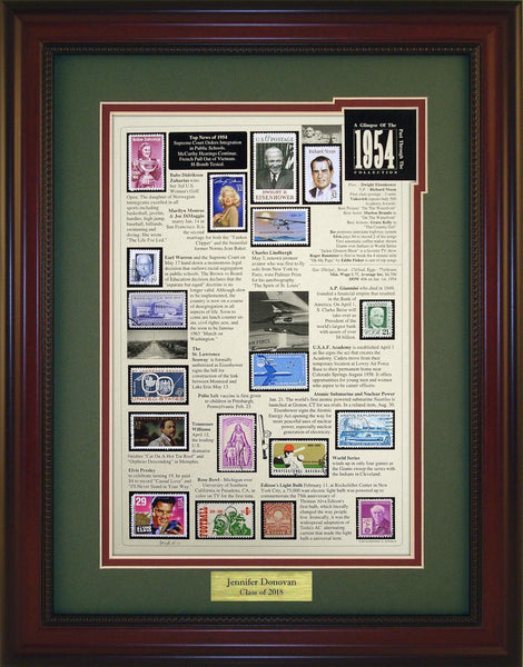 Year 1954 - Personalized Unique Framed Gift