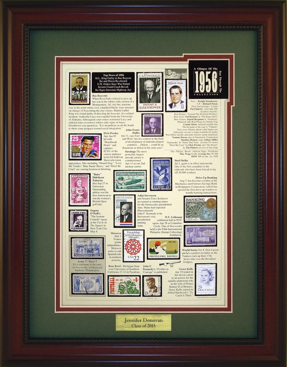 Year 1956 - Personalized Unique Framed Gift