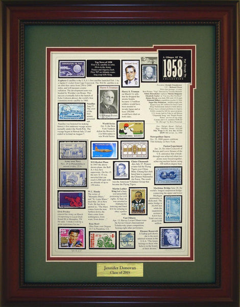 Year 1958 - Personalized Unique Framed Gift