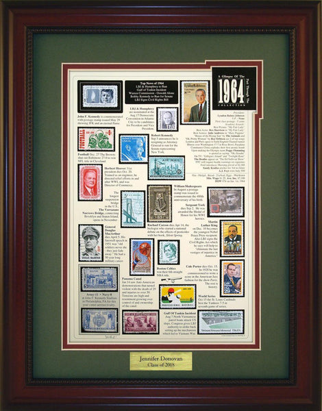 Year 1964 - Personalized Unique Framed Gift