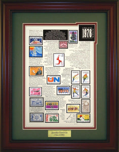 Year 1976 - Personalized Unique Framed Gift
