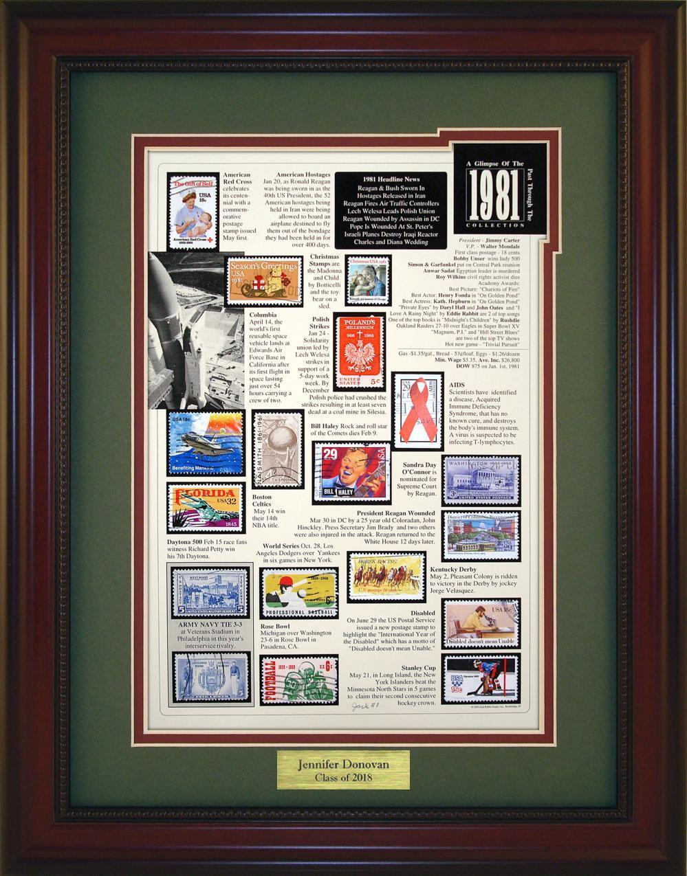 Year 1981 - Personalized Unique Framed Gift