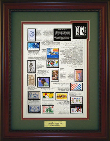 Year 1982 - Personalized Unique Framed Gift
