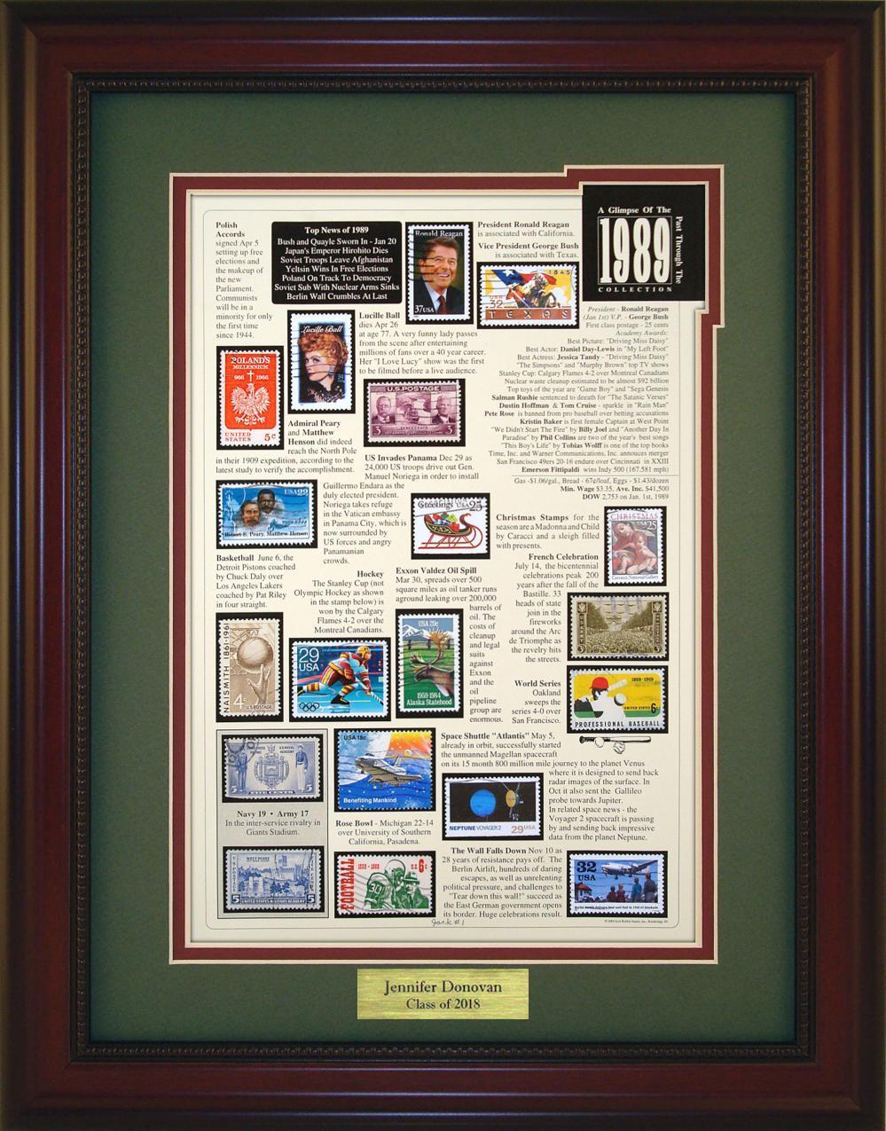 Year 1989 - Personalized Unique Framed Gift