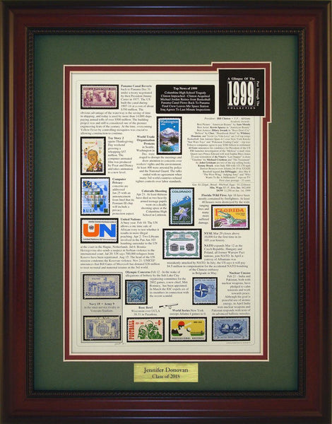 Year 1999 - Personalized Unique Framed Gift