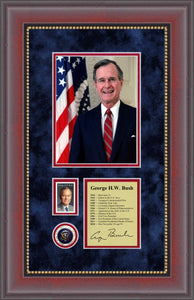 George H.W. Bush Stamp Collectible (11 x 17)