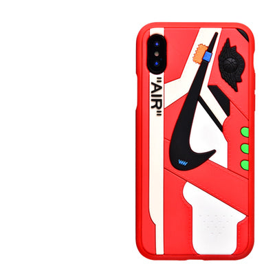 Nike AJ1 OW 3D Case (Red Trim) - Krispy Soles