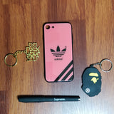 Adidas 3 Stripe Pink Glass Case - Krispy Soles