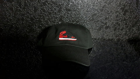 Bred 1 Banned Dad Hat-Black - Krispy Soles
