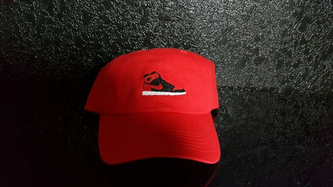 Bred 1 Banned Dad Hat-Red - Krispy Soles