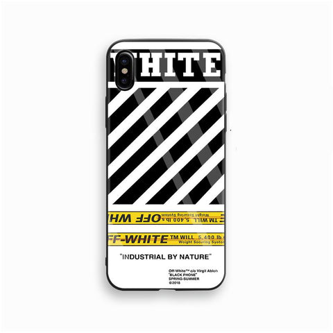 "Off White ""Industrial By Nature"" White Glass Case - Krispy Soles"