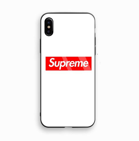 Supreme Box Logo White Glass Case - Krispy Soles