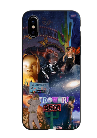 Travis Scott 🤘 Astroworld Collage Glass Case - Krispy Soles