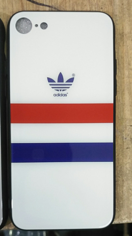Adidas 3 Stripe White Glass Case - Krispy Soles