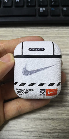 Off-white White Leather Airpod Case - Krispy Soles