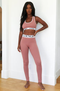 REBORN Smoked Pink High Waisted Leggings Set
