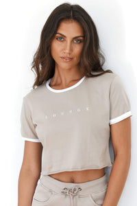 Mink Cropped T-Shirt