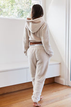 Load image into Gallery viewer, Oatmeal Cream Teddy Joggers