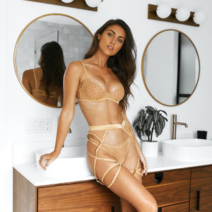Belle Gold Intimates Set