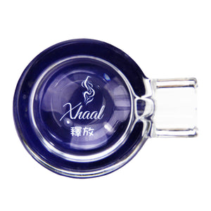 GLASS ASHTRAY BLUE