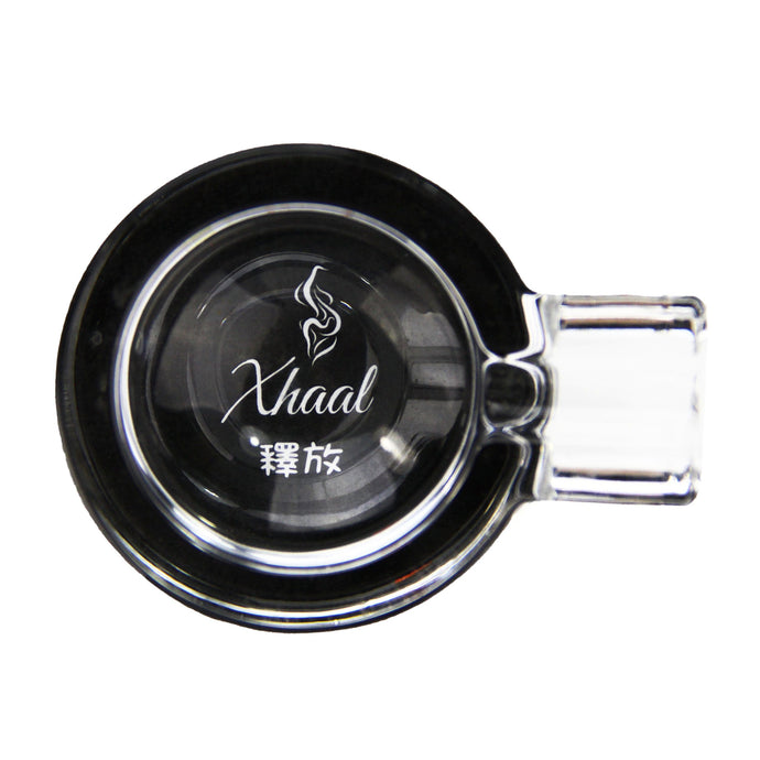 GLASS ASHTRAY BLACK