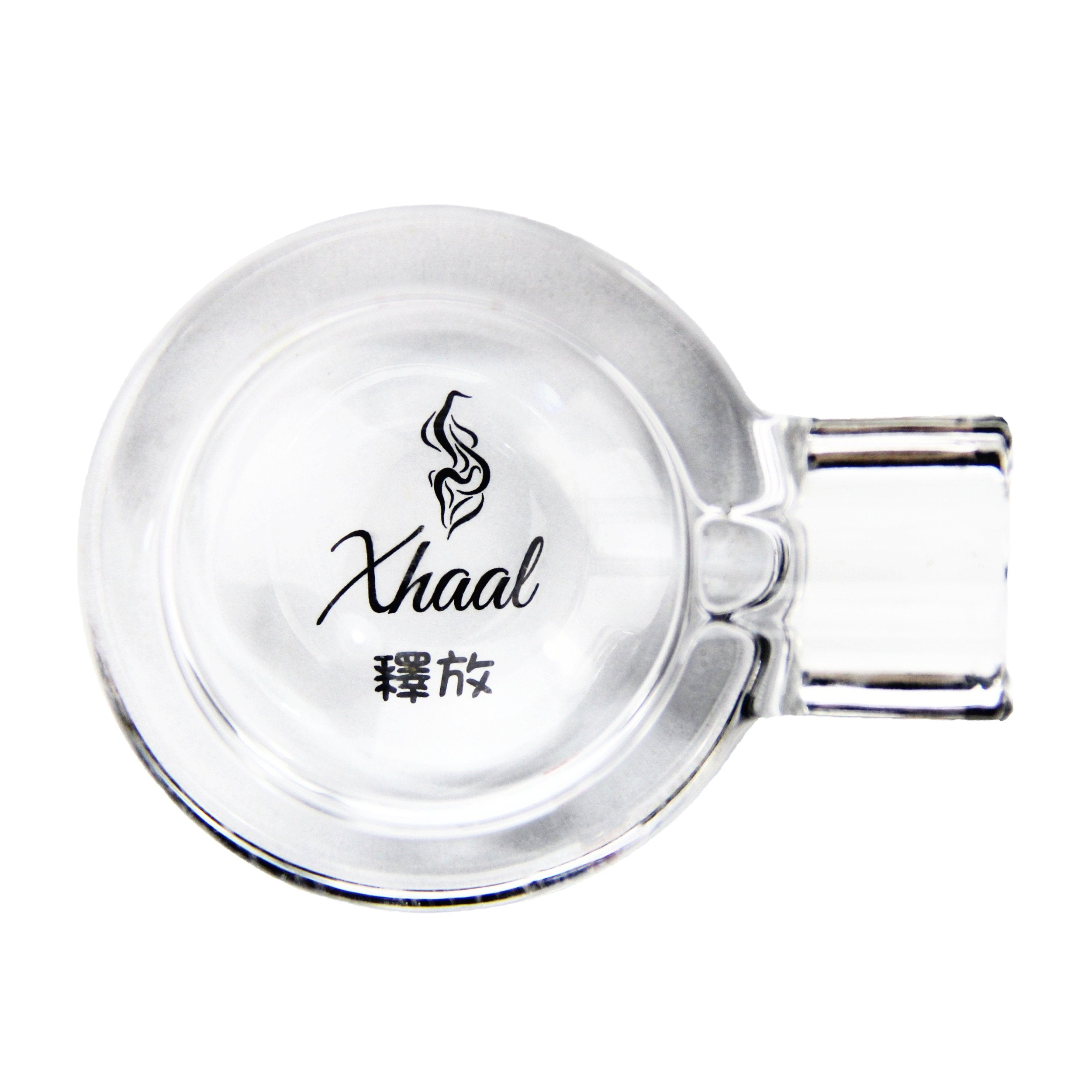 GLASS ASHTRAY SILVER