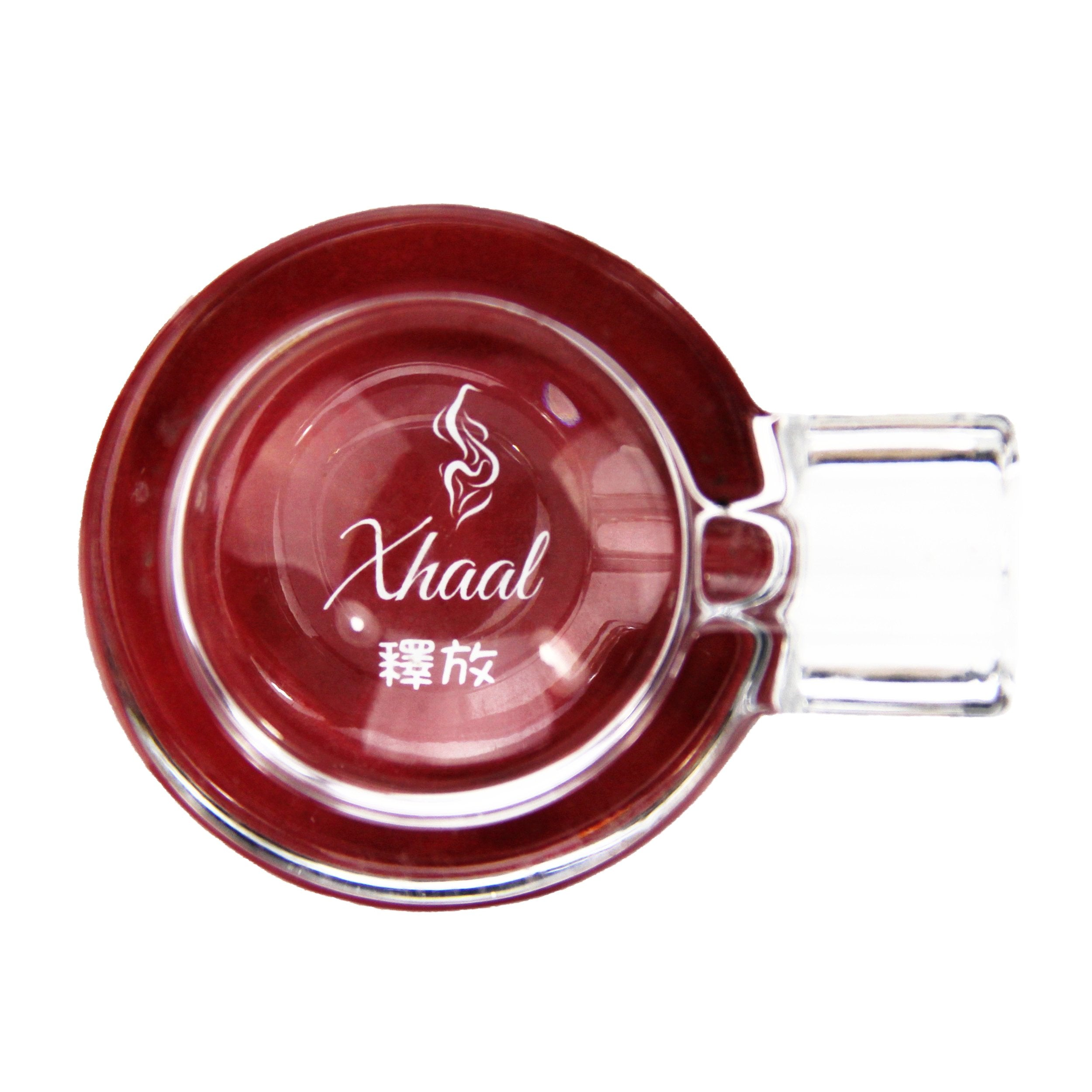 GLASS ASHTRAY RED