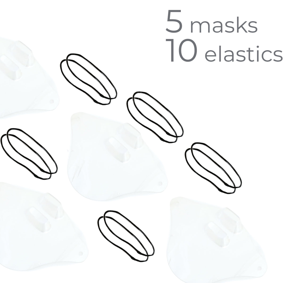 Clear Shield Mask | Pack of 5