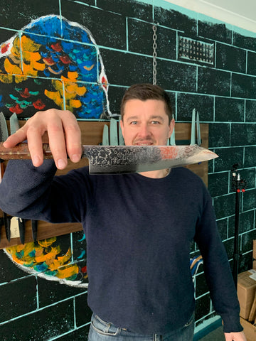 Gyuto Knife with it's creator Shannon