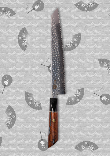 The Sujihiki Knife (Carving Knife)- Blue Handle - Koi Knives