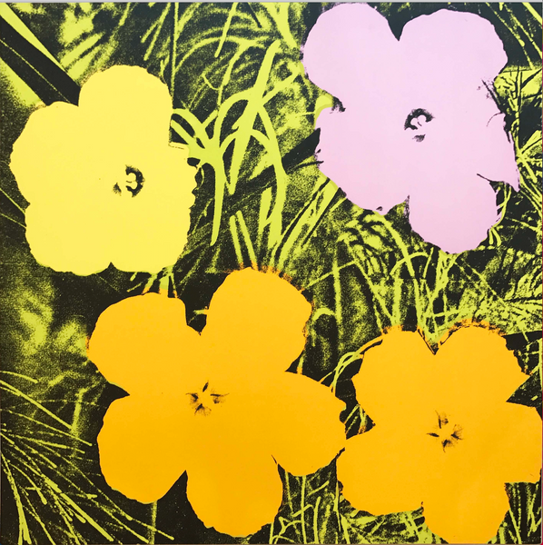 Andy Warhol Flowers II.67 Edition 87/250. Signed and Numbered on Verso, 1970