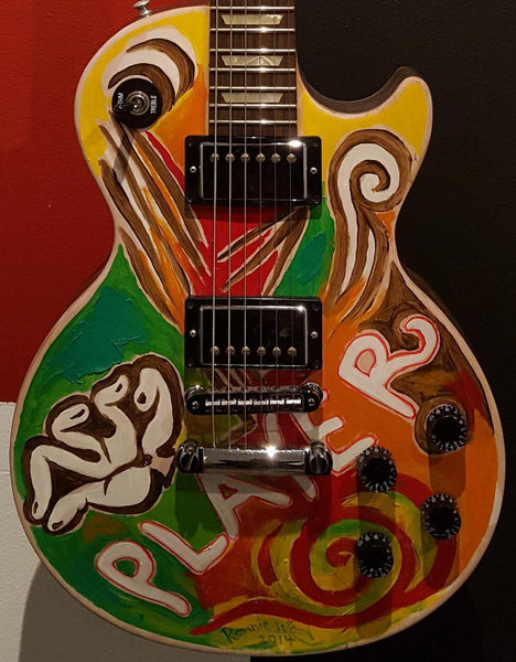 "Hand Painted Gibson ""Player"" Guitar"