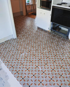 D Segni Color Porcelain tiles on kitchen floor in progress Marazzi