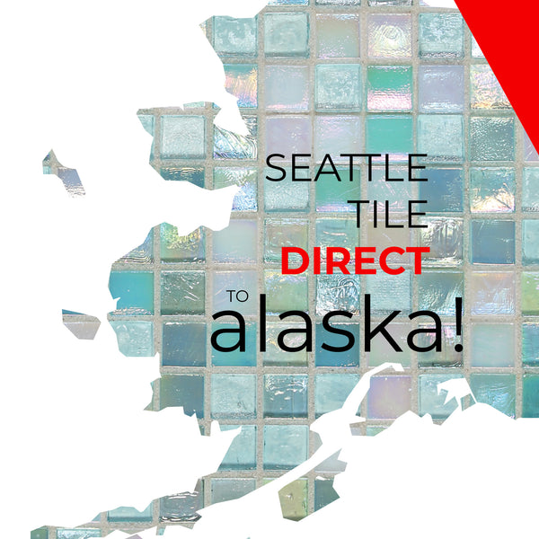 Alaska blue square tile ship direct via AML or Span Alaska.