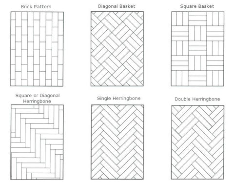 rectangle tile pattern ideas