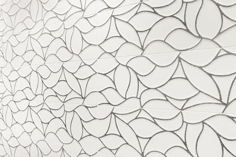 close up white tile with pattern