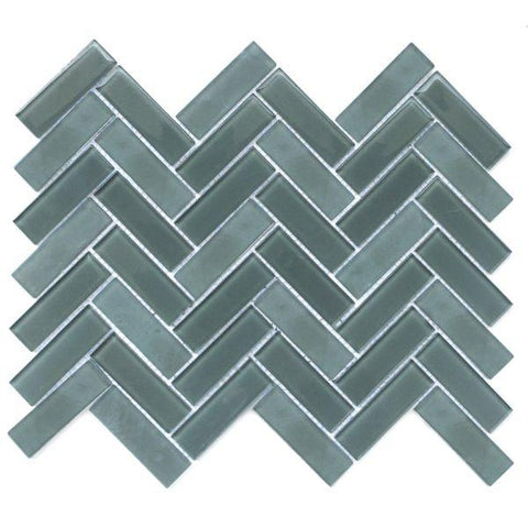 Herringbone mosaic in the color wise, which is a dark grey from the Charisma collection.
