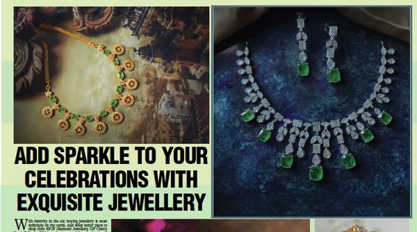 Add Sparkle to your celebrations with Exquisite Jewellery