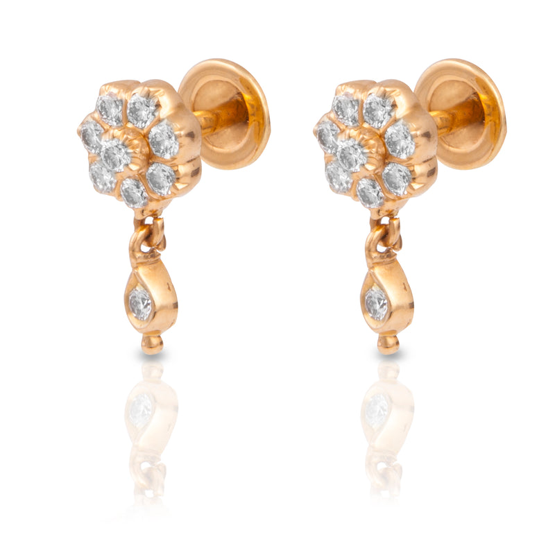 The Manjula Closed Setting 22k Diamond Stud