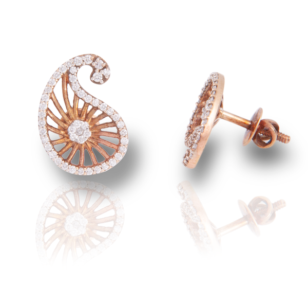 The Sirisha 18k Rose Gold Diamond Studs
