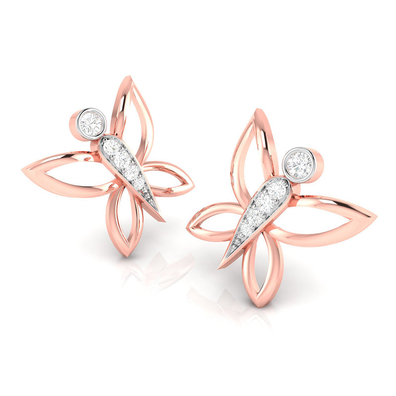 Delicate Butterfly Studs
