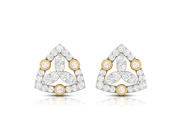 The Trikone Diamond Earring