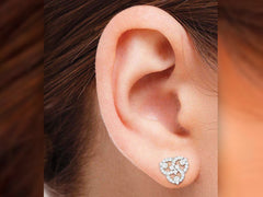 Entwining Circles Diamond Earring