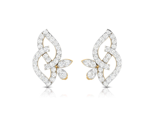 Continuous Loop Diamond Studs