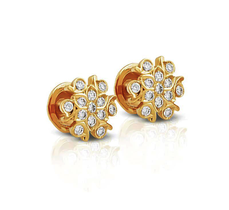 The Sneham Closed Setting 22k Diamond Stud