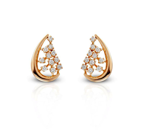 Glorious Mesh Diamond Studs