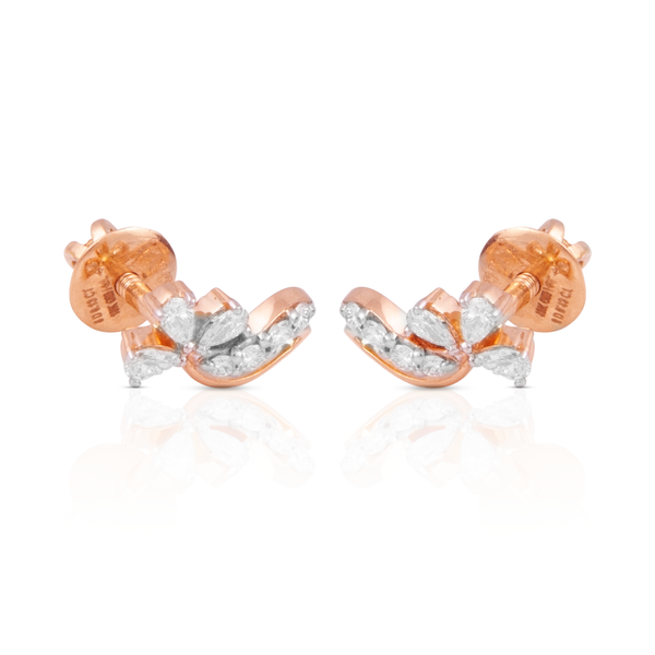 Aura 18k Rose Gold Diamond Studs