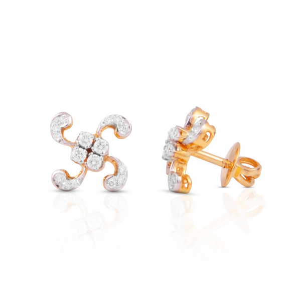 The Amulya 18k Yellow Gold Diamond Studs